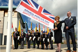 Raising the flag for Armed Forces Day