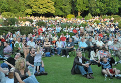 people at proms in the park