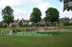 Play area and trees in park