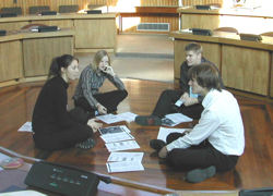 Young people discussing consultation
