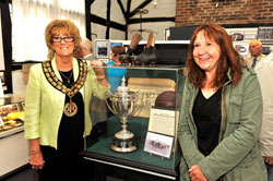 Mayor Janice Richards with Birgit Sieker-Witte, the new chair of the Herford town twinning group
