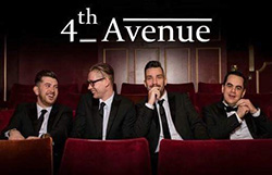 Photo of the four members of the band 4th Avenue
