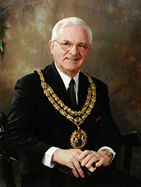 Photo of the late councillor and former mayor Geoff Payne