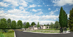 An artist's impression of what Hinckley Crematorium could look like