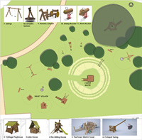 plan for Argents Mead play area